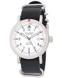 Filson - Stainless Steel Leather Strap Watch - Lyst