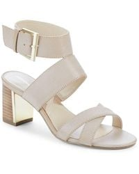 Adrienne Vittadini - Open-toe Leather Sandals - Lyst