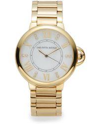Saks Fifth Avenue - Goldtone Stainless Steel Bracelet Watch - Lyst