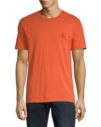 Calvin Klein - Short-sleeve Cotton Tee - Lyst