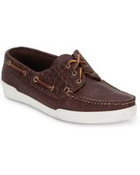 Eastland - Textured Tie-up Leather Boat Shoes - Lyst