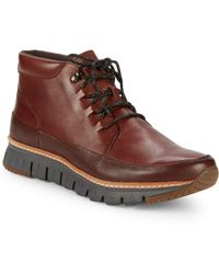 Cole Haan - Zerogrand Leather Outdoor Boots - Lyst