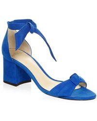 Alexandre Birman - Clarita Suede Block Heel Sandals - Lyst