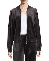 Natori - Zip Bar Velour Jacket - Lyst
