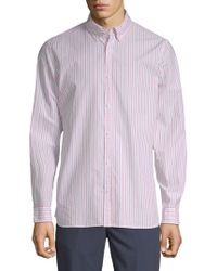 Calvin Klein - Stripe Cotton Button-down Shirt - Lyst