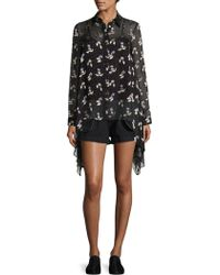 Opening Ceremony - Denim Inside-out Shorts - Lyst