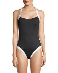 La Blanca - Crisscross One-piece Swimsuit - Lyst