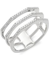 Ron Hami - Diamond & 14k White Gold 3-row Ring - Lyst