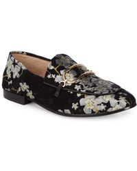 Karl Lagerfeld - Floral Embroidered Loafers - Lyst