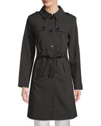 Kate Spade - Patchwork Spread Collar Raincoat - Lyst