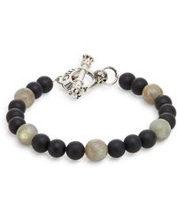 King Baby Studio - Onyx, Labradorite & Sterling Silver Beaded Bracelet - Lyst