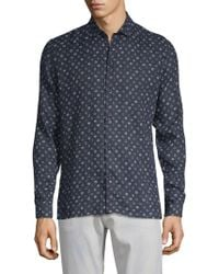 The Kooples Sport - Printed Cotton Button-down Shirt - Lyst