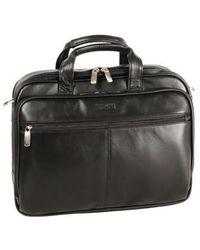 Kenneth Cole - Leather Portfolio Briefcase - Lyst