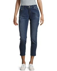 Earnest Sewn - Cotton-blend Cropped Jeans - Lyst
