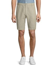 Saks Fifth Avenue - Striped Linen Shorts - Lyst