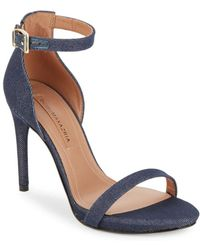BCBGMAXAZRIA - Dona Denim Sandals - Lyst