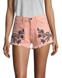 Sandrine Rose - The Doll Embroidered Shorts - Lyst