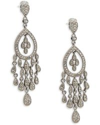 Adriana Orsini - Crystal Teardrop Chandelier Earrings - Lyst