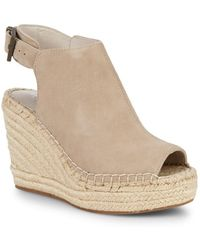Kenneth Cole - Ory Platform Wedge Leather Espadrille - Lyst