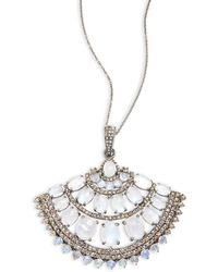 Bavna - Rainbow Moonstone & Sterling Silver Pendant Necklace - Lyst