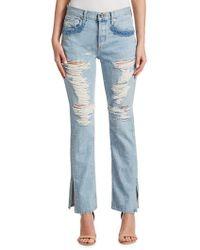 Jonathan Simkhai - Distressed Beaded Jeans - Lyst