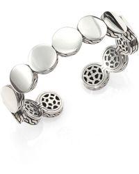 John Hardy - Sterling Silver Dot Cuff Bracelet - Lyst