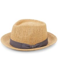 Saks Fifth Avenue - Wide Brim Straw Fedora - Lyst
