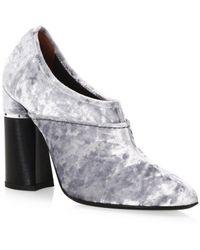 3.1 Phillip Lim - Kyoto Velvet Ankle Boot - Lyst