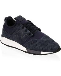 New Balance - Suede Perforated Low-top Trainers - Lyst