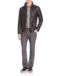 John Varvatos - Slim-fit Leather Jacket - Lyst