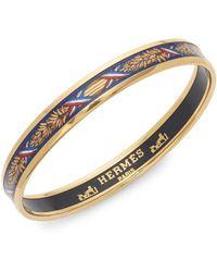 Hermès - Vintage Wheat Design Enameled Bangle Bracelet - Lyst