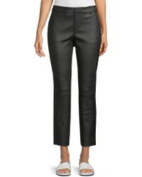 Vince - Leather Ankle Pant - Lyst