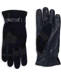 Valentino - Cashmere & Leather Camo Gloves - Lyst