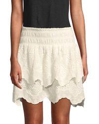 Red Carter - Vega Cotton Skirt - Lyst