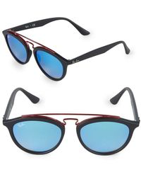 6c521301d78 Ray-Ban 20mm Gatsby Round Sunglasses in Black - Lyst