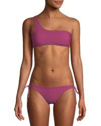 Red Carter - One-shoulder Bikini Top - Lyst
