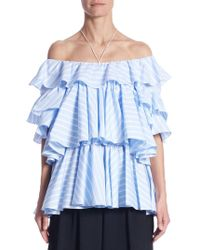 Peserico - Tiered Cotton Top - Lyst