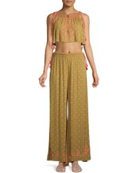 Free People - Hearts Rising 2-piece Embroideredcropped Top & Trousers Set - Lyst