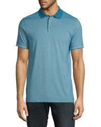 Perry Ellis - Stripe-trim Polo Shirt - Lyst