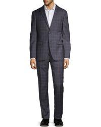 John Varvatos - Bedford Plaid Wool Suit - Lyst