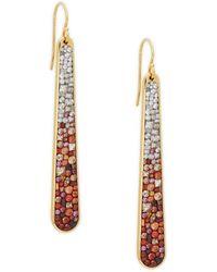 Plevé - Ombre Diamond 18k Yellow Gold Stiletto Earrings - Lyst