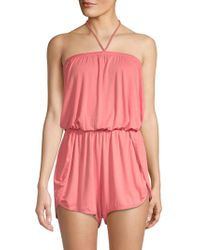 Lucky Brand - Tassel Halter Romper Cover-up - Lyst