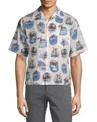 Prada - Cotton Ice Fishing Shirt - Lyst