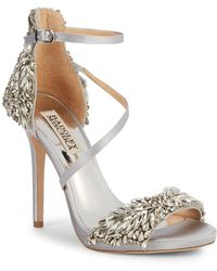 Badgley Mischka - Selena Bejeweled Stiletto Sandals - Lyst