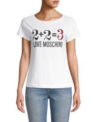 Love Moschino - Graphic Cotton Tee - Lyst
