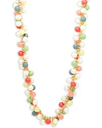 Kenneth Jay Lane - Multicolored Crystal Necklace - Lyst