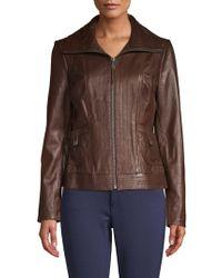 f9aef2c73d64d Lyst - Women s MICHAEL Michael Kors Leather jackets On Sale