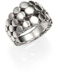 John Hardy - Dot Sterling Silver Three-row Ring - Lyst