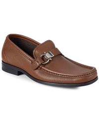 Ferragamo - Muller Leather Loafers - Lyst