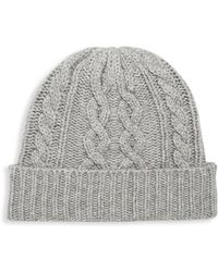 Saks Fifth Avenue - Cable Beanie - Lyst